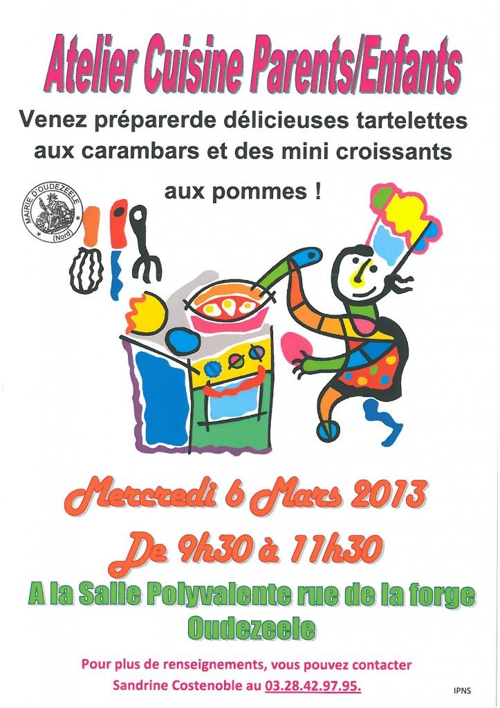 Atelier cuisine parents enfants mercredi prochain mairie - Atelier cuisine pour enfants ...
